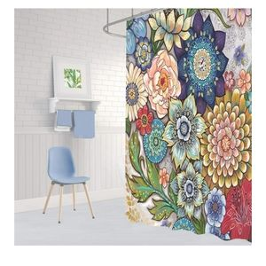 🆕️ Boho Floral Shower Curtain 69W X 70L  Inches